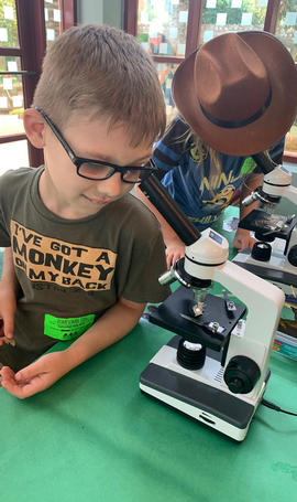 Little Boy and Microscope